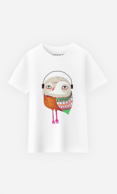 T-Shirt Owl Headphones