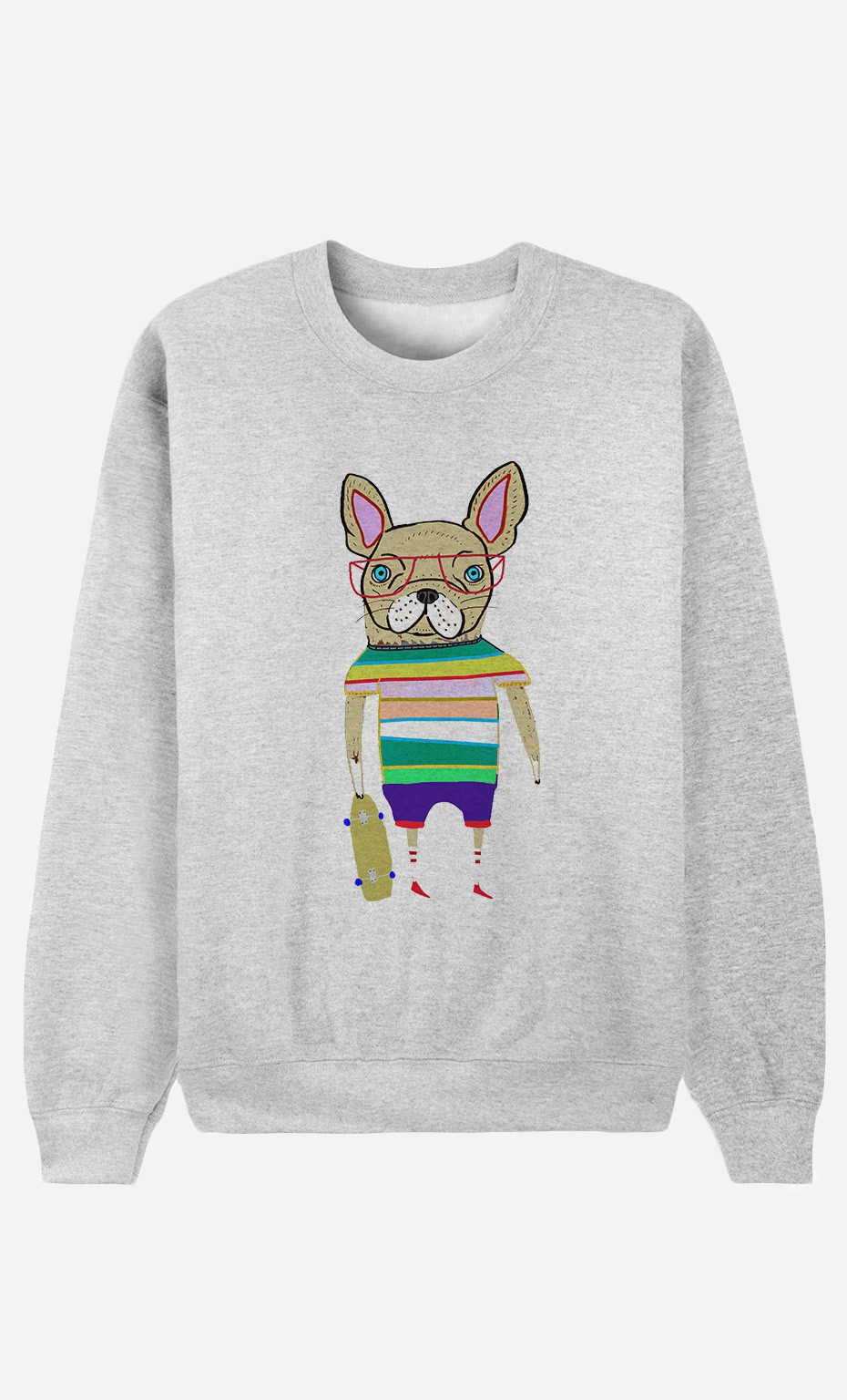 Sweat Femme French Bulldog Skater