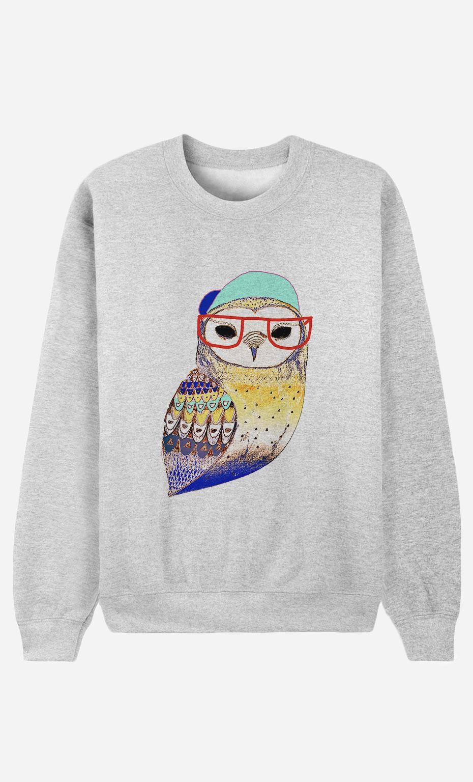 Sweat Femme Hipster Owl