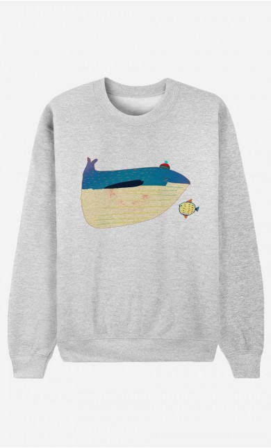 Sweat Femme Whale And Fish