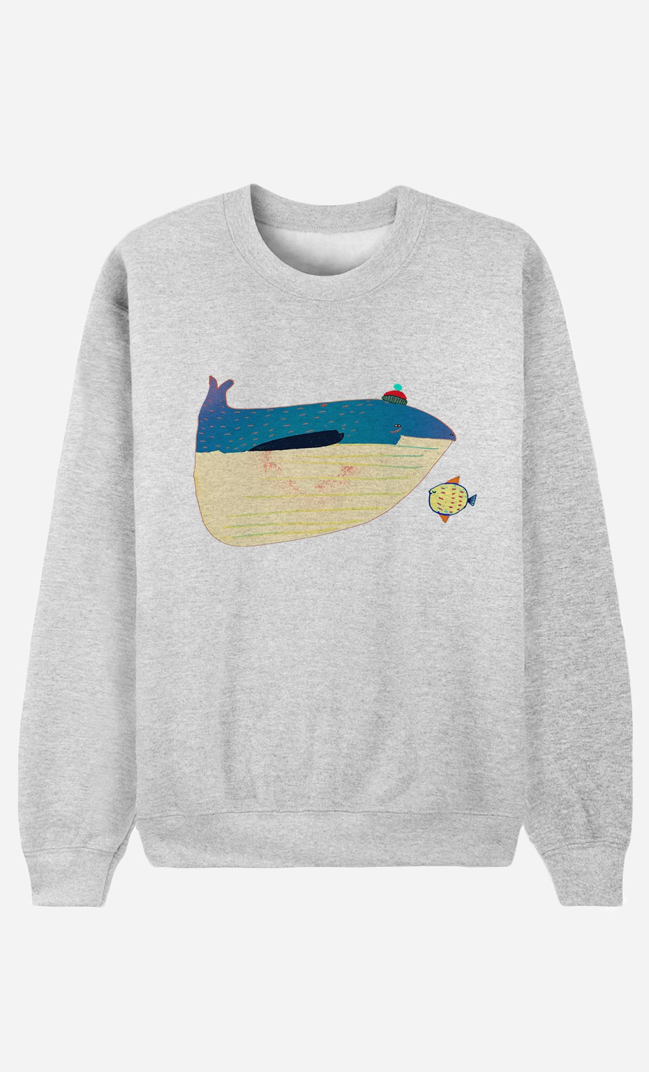 Sweat Whale And Fish