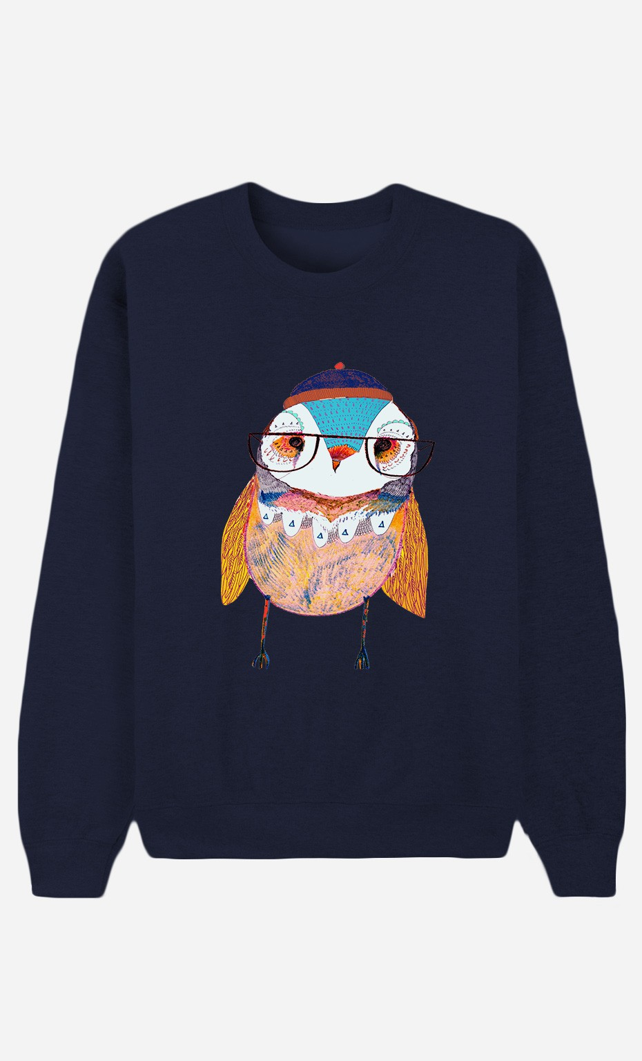Sweat Bleu Bobble Hat Owl