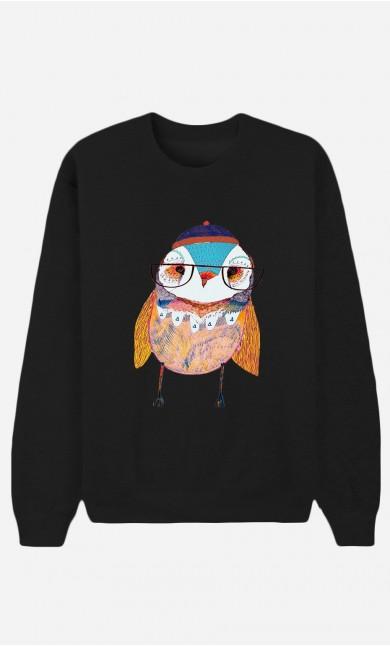 Sweat Noir Bobble Hat Owl
