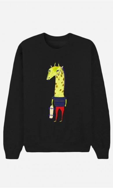 Sweat Noir Giraffe Dude
