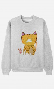 Sweat Homme Cat And Mouse