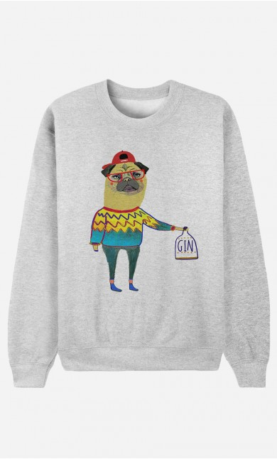 Sweat Homme Gin Pug