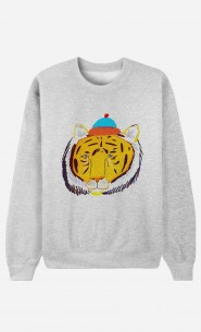 Sweat Homme Tiger Head