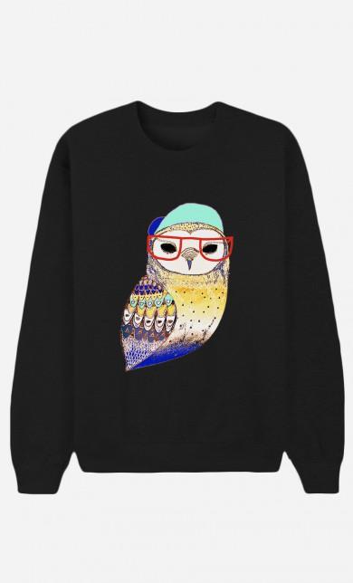 Sweat Noir Hipster Owl