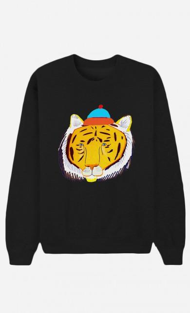 Sweat Noir Tiger Head