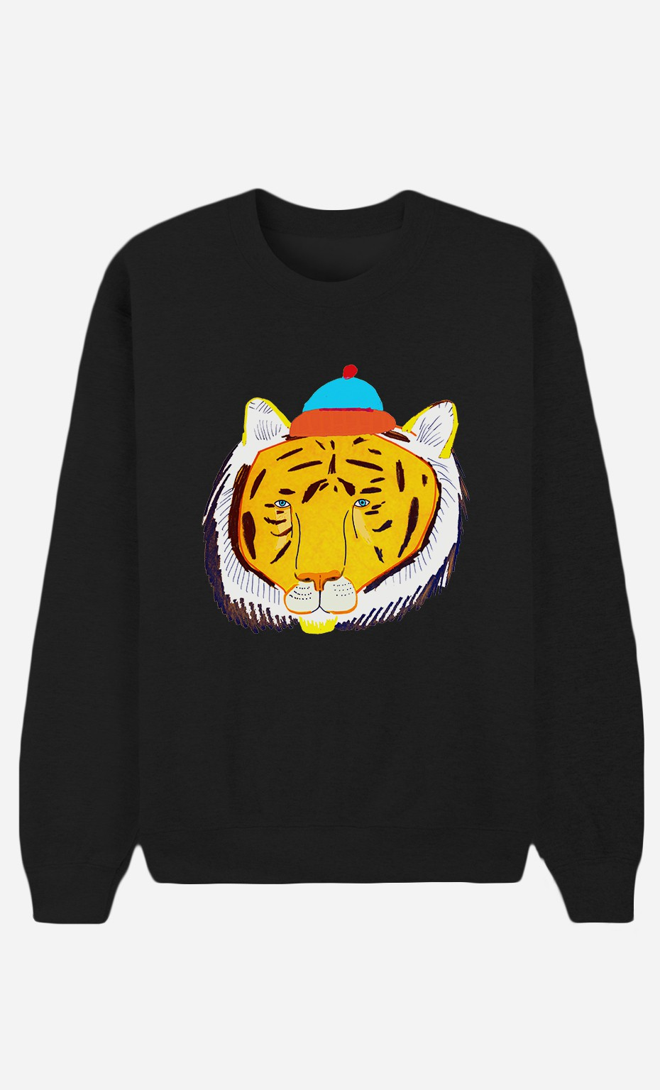 Sweat Noir Tiger Head