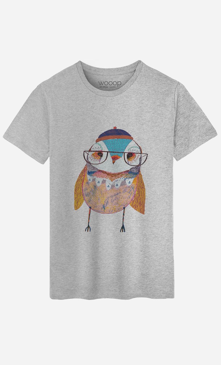 T-Shirt Homme Bobble Hat Owl
