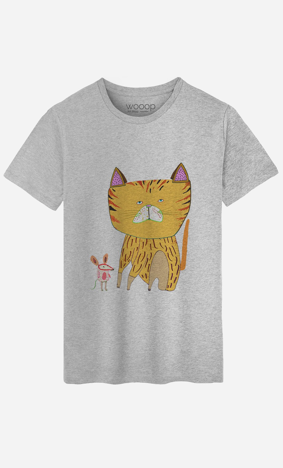 T-Shirt Homme Cat And Mouse
