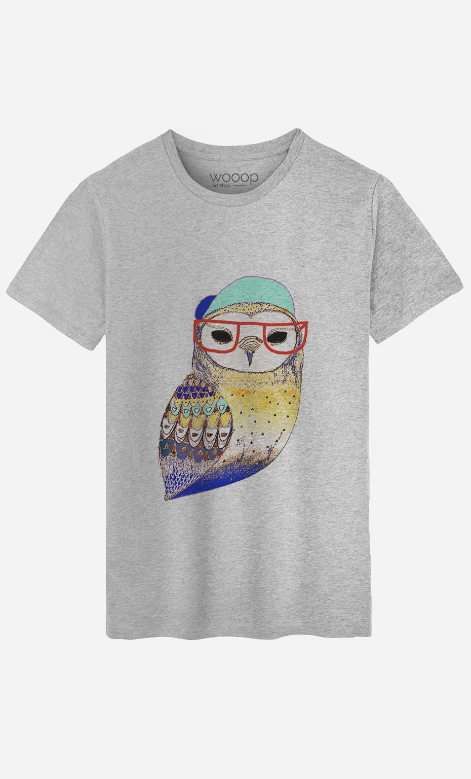 T-Shirt Homme Hipster Owl