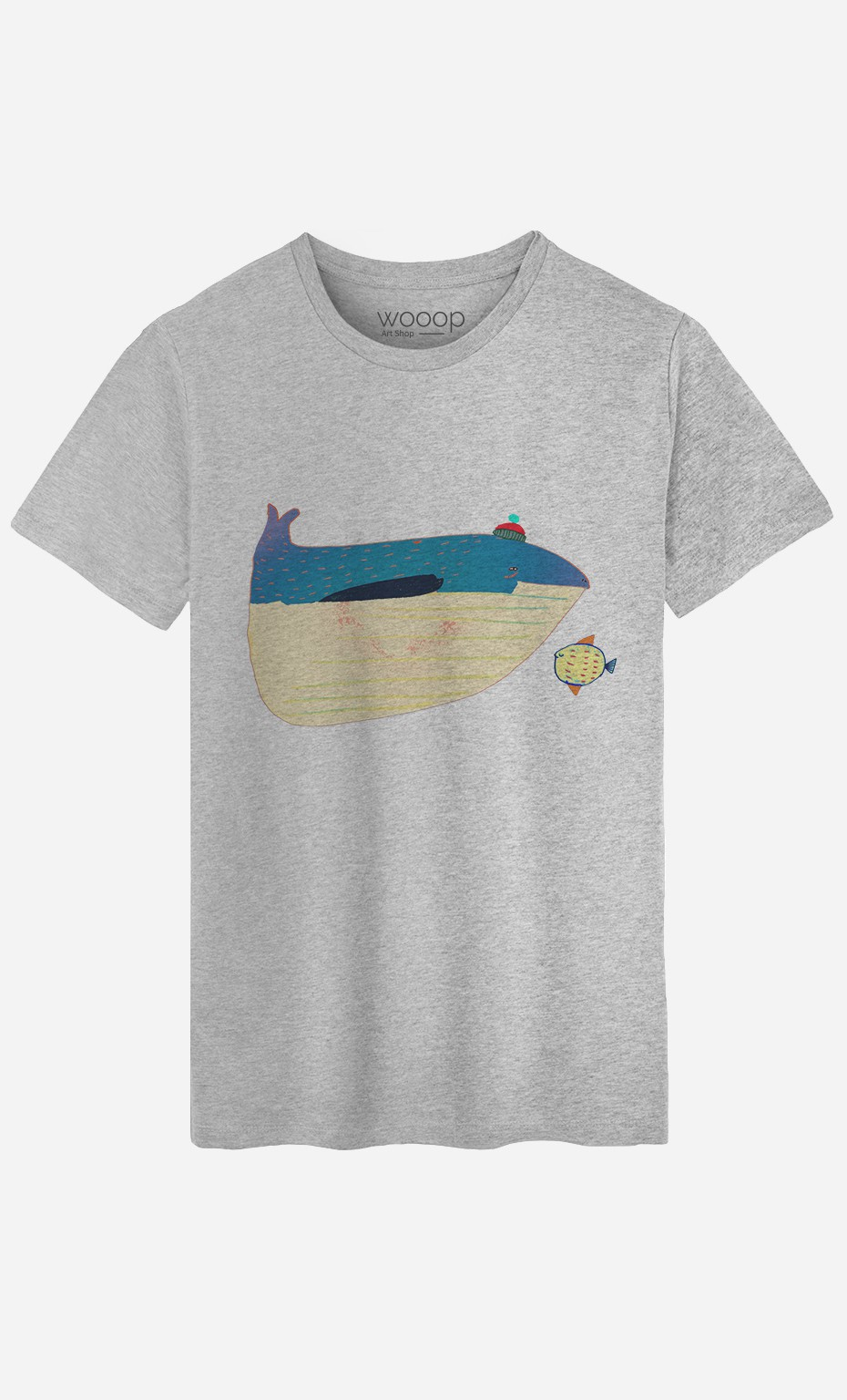 T-Shirt Whale And Fish