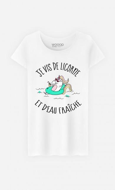 T-Shirt De Licorne et d'Eau Fraiche