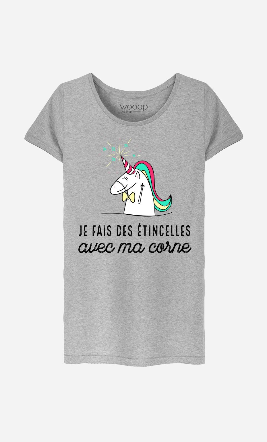 T-Shirt Je Fais Des Etincelles Avec Ma Corne