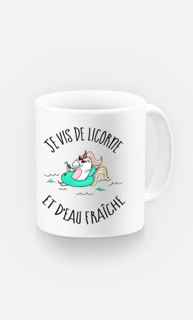 Mug Je Vis De Licorne et d'Eau Fraiche