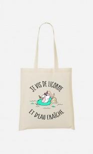Tote Bag Je Vis De Licorne et d'Eau Fraiche