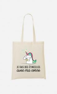 Tote Bag Je Fais Des Etincelles Avec Ma Corne
