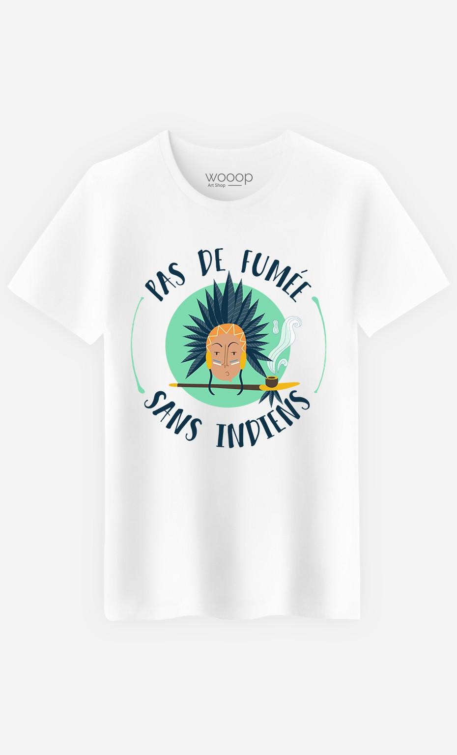 T-Shirt Homme Pas de Fumée Sans Indiens