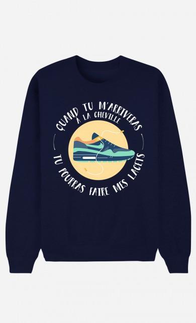 Blue Sweater A La Cheville