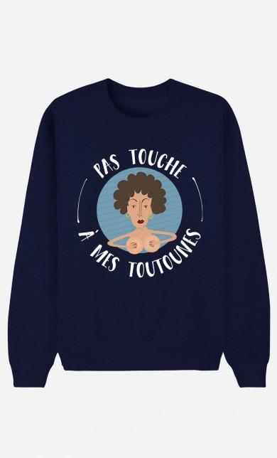 Blue Sweater Pas Touche à Mes Toutounes