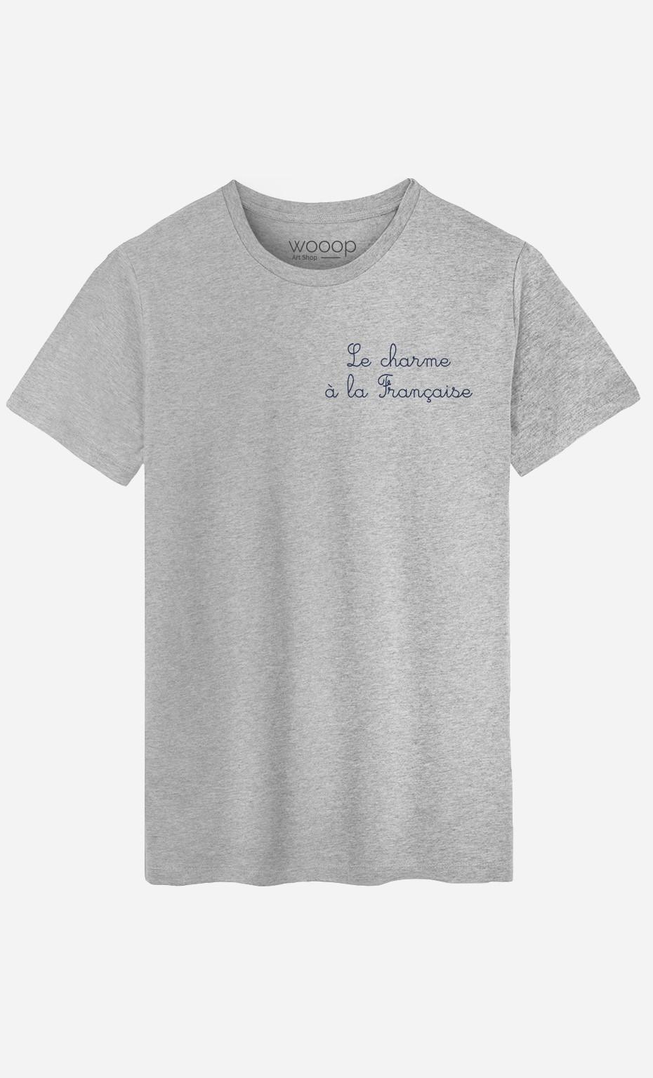 T-Shirt Homme Le Charme A La Française - Brodé