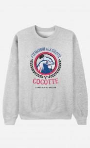 Sweat J'te Marque à la Culotte Cocotte