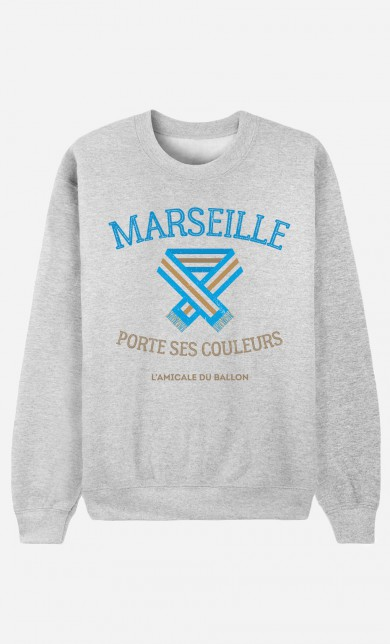 Sweat Marseille Porte ses Couleurs