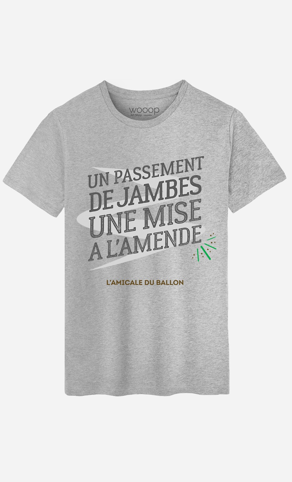 T-Shirt Un Passement de Jambes Une Mise à l'Amende