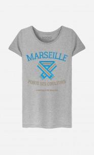 T-Shirt Femme Marseille Porte ses Couleurs