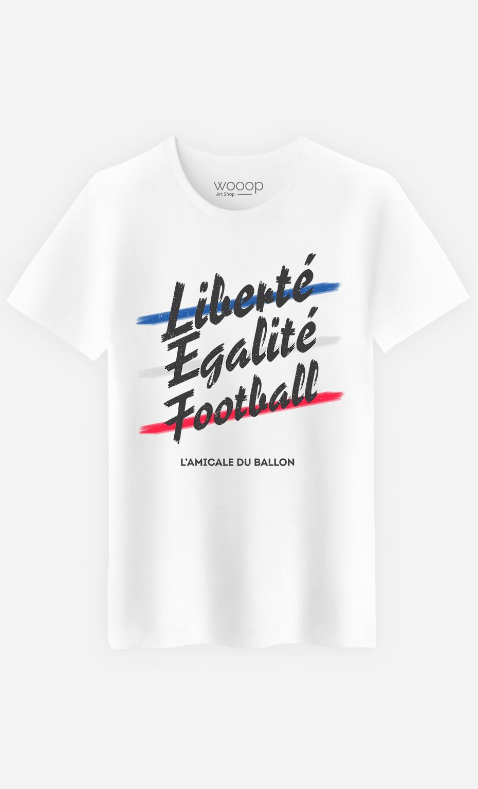 T-Shirt Homme Liberté Egalité Football