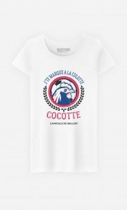 T-Shirt Femme J'te Marque à la Culotte Cocotte