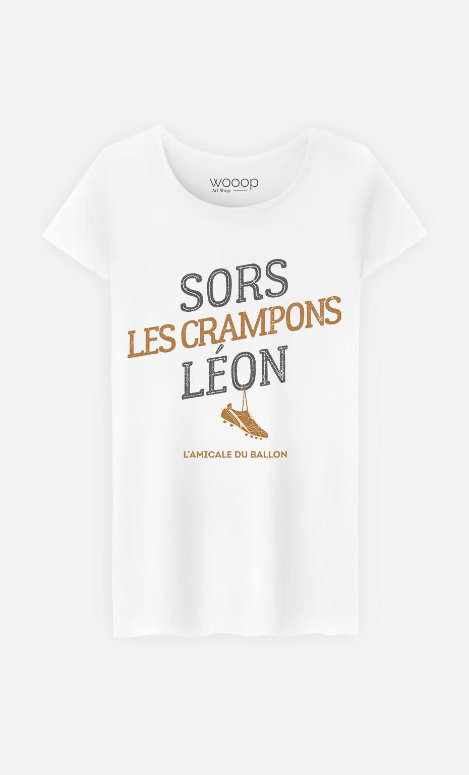 T-Shirt Femme Sors Les Crampons Léon