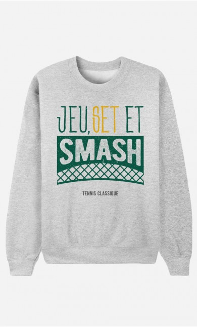 Sweat Homme Jeu Set et Smash