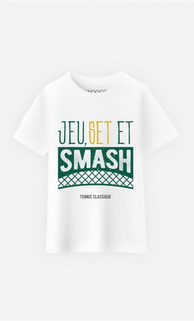 T-Shirt Enfant Jeu Set et Smash