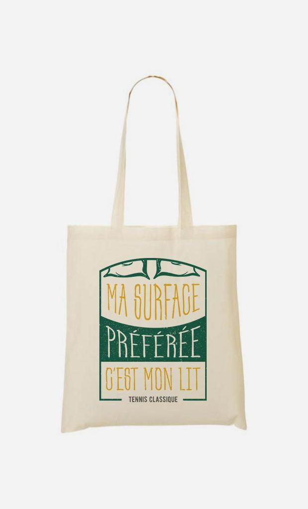 Tote Bag Ma Surface Préférée c'est Mon Lit