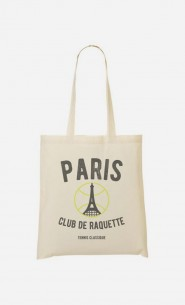 Tote Bag Paris Club de Raquette