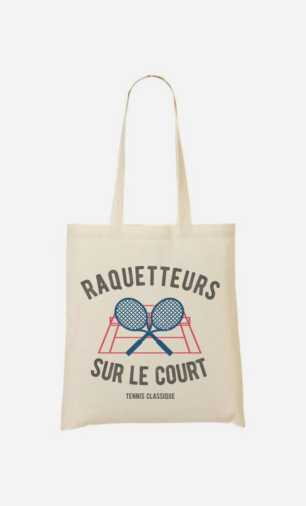 Tote Bag Raquetteurs sur Le Court