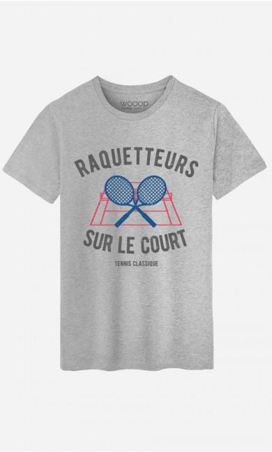 T-Shirt Homme Raquetteurs sur Le Court