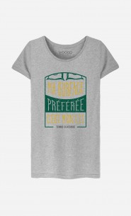 T-Shirt Femme Ma Surface Préférée c'est Mon Lit