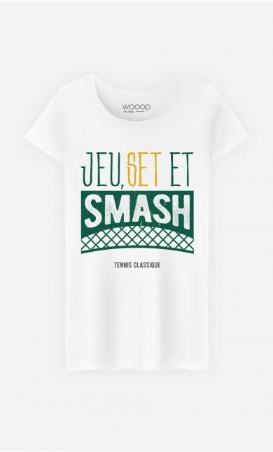 T-Shirt Femme Jeu Set et Smash