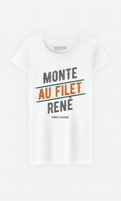 T-Shirt Femme Monte au Filet René
