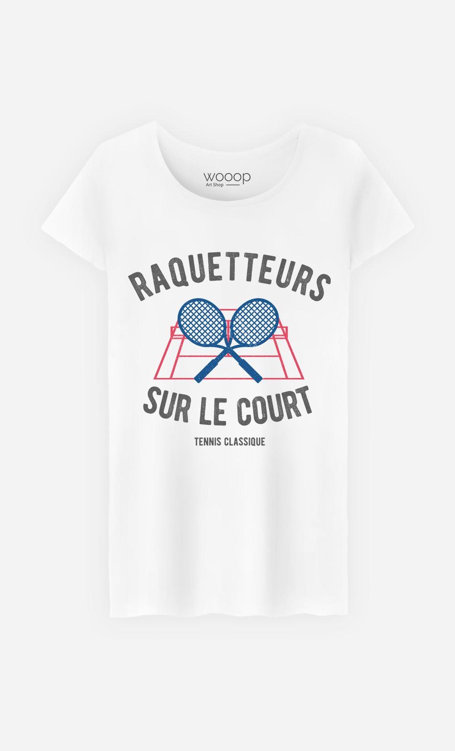 T-Shirt Femme Raquetteurs sur Le Court