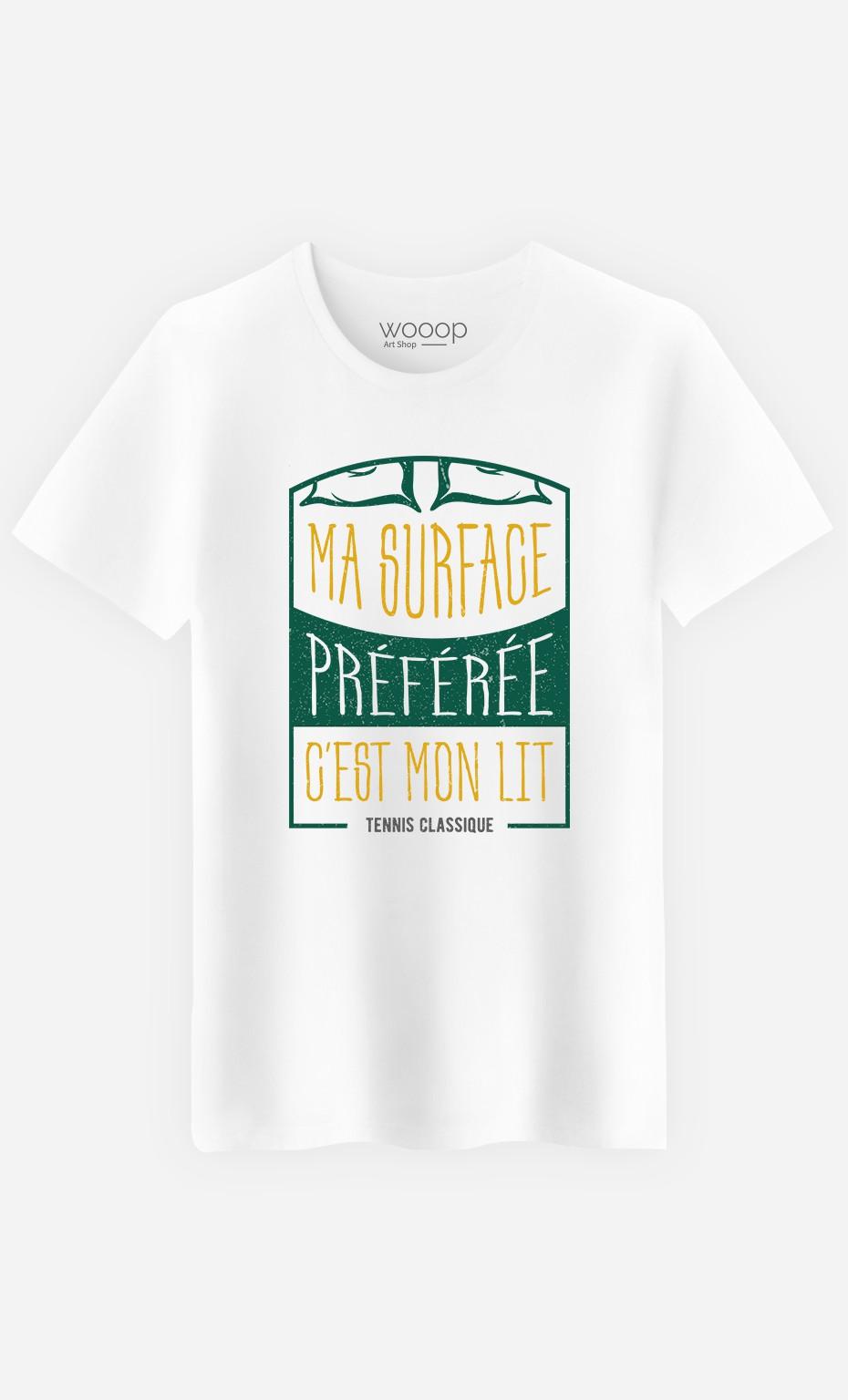 T-Shirt Homme Ma Surface Préférée c'est Mon Lit