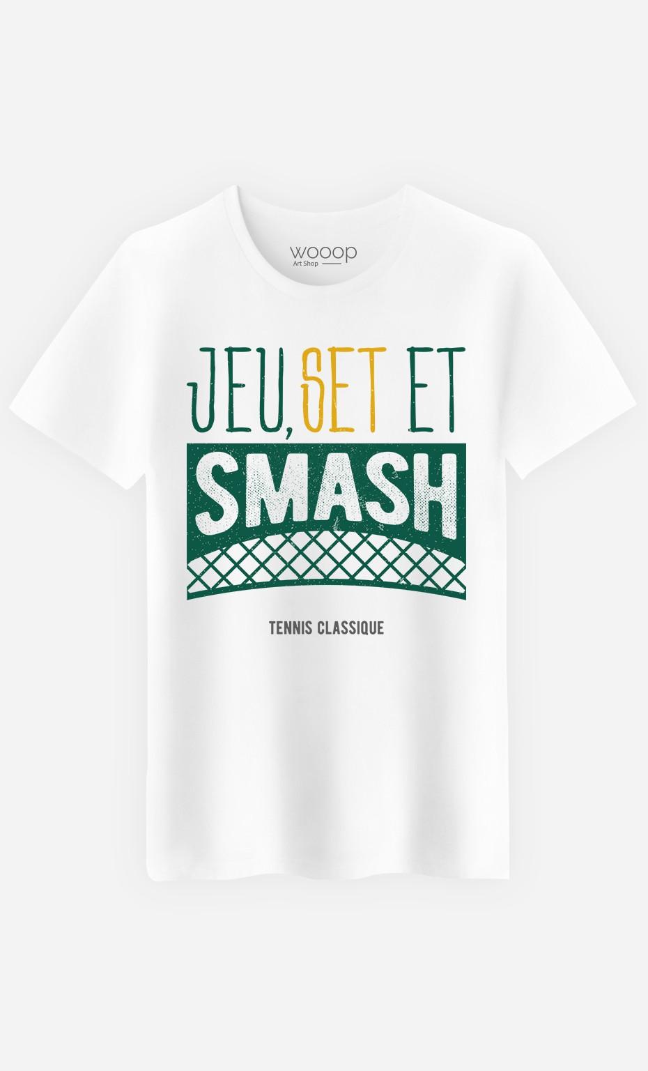 T-Shirt Homme Jeu Set et Smash