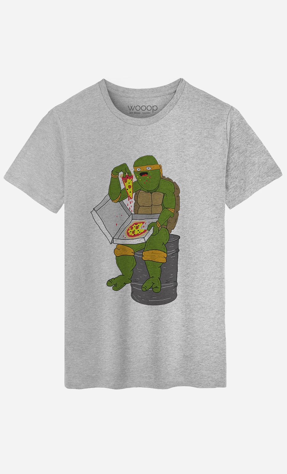 T-Shirt Homme Pizza Turtle