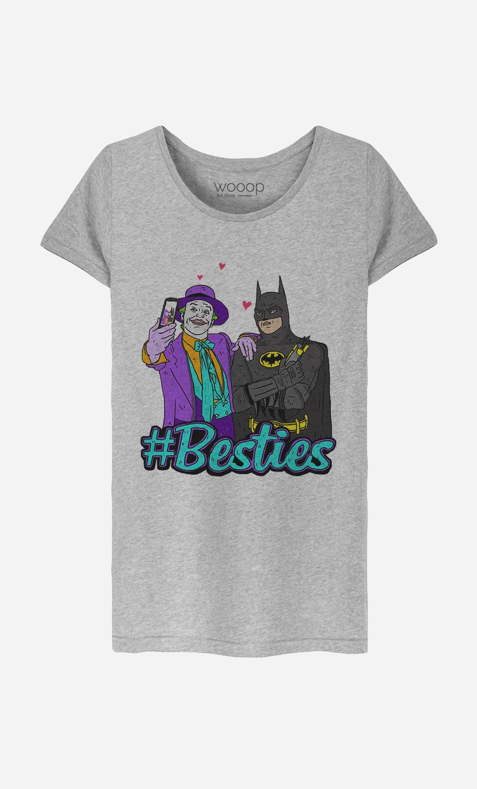 T-Shirt Femme Joker & Batman