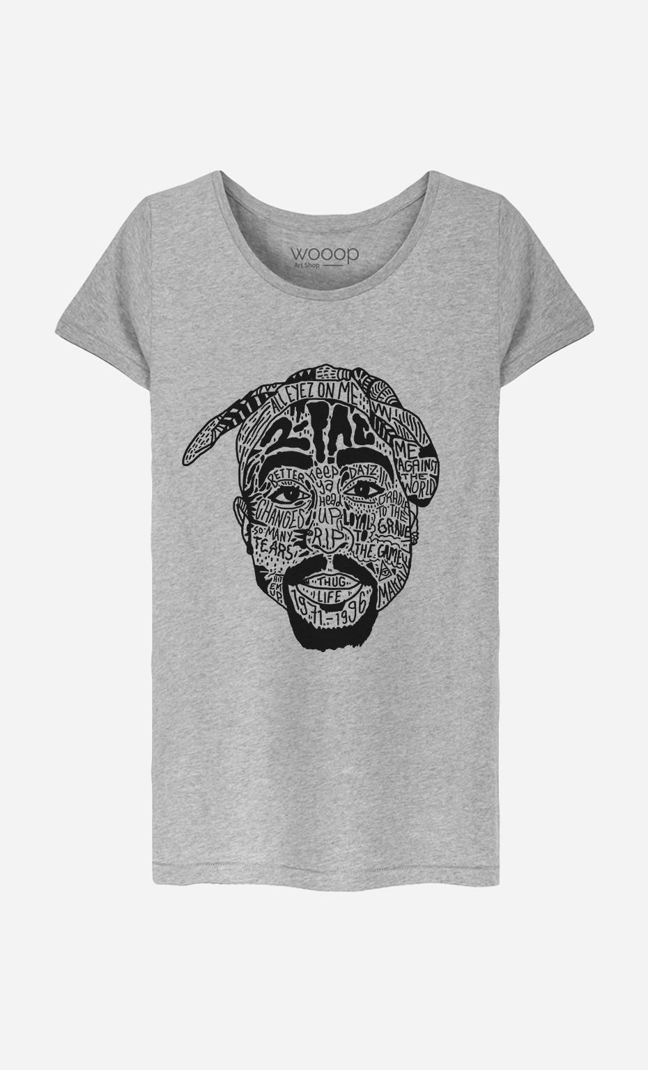 T-Shirt Femme Tupac Shakur