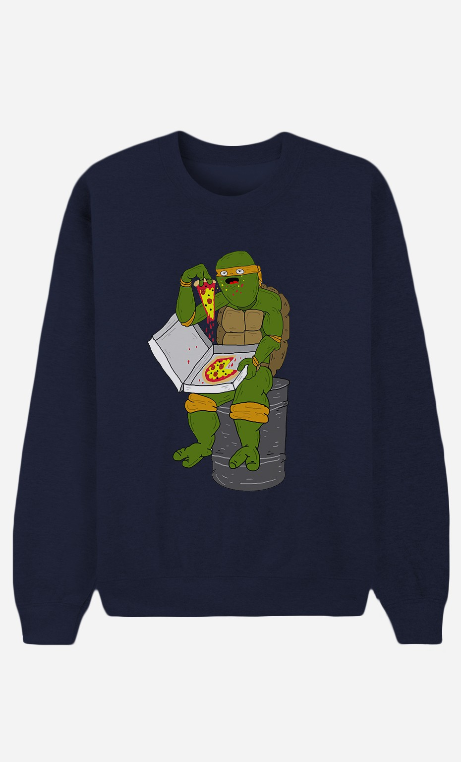 Sweat Homme Pizza Turtle